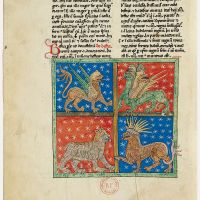 f. 18v, The four beasts of Daniel
