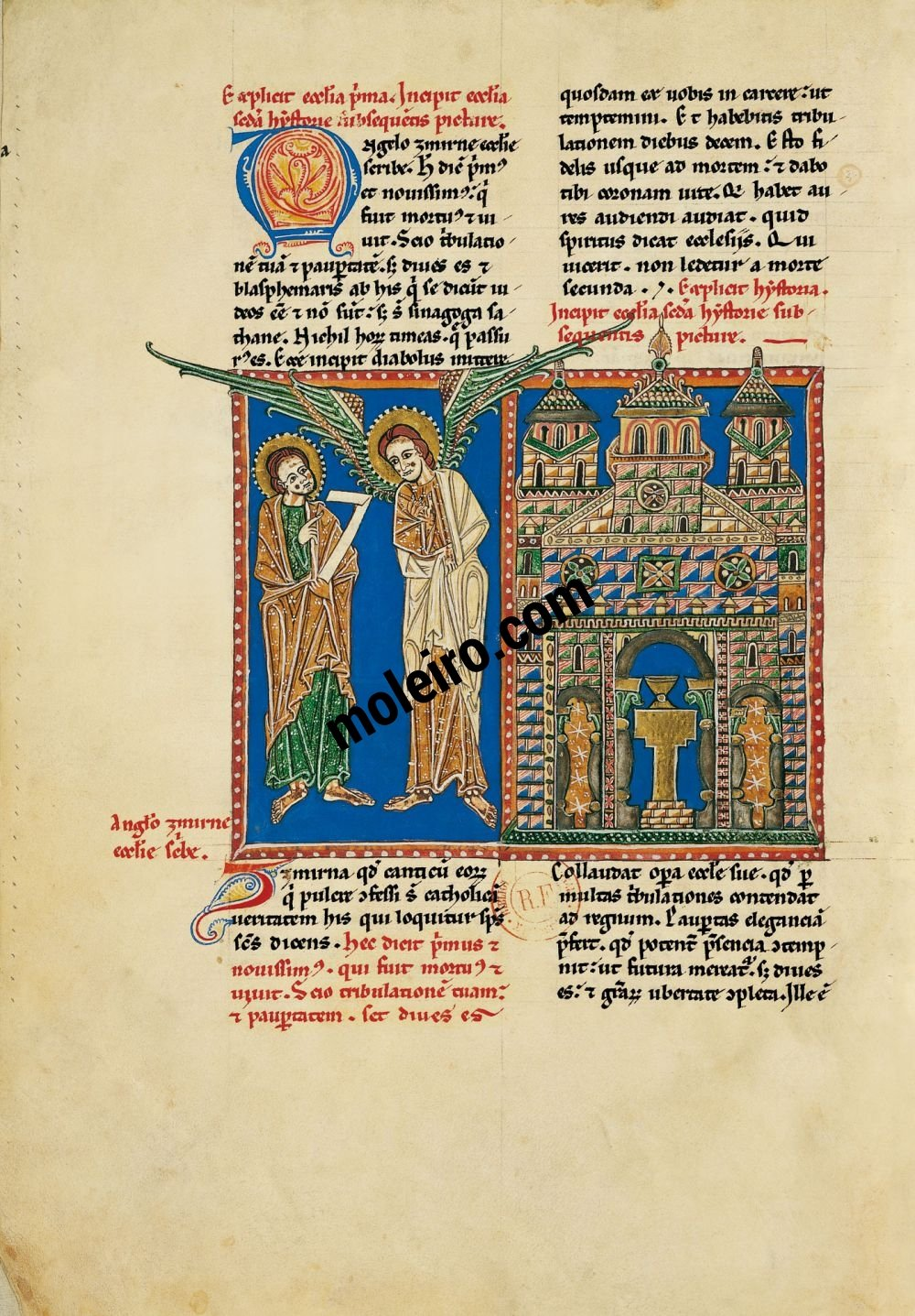 Arroyo Beatus f.   29v, The message to the Church of Smyrna