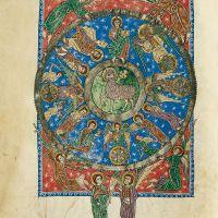 f. 56v, Vision of the Lamb