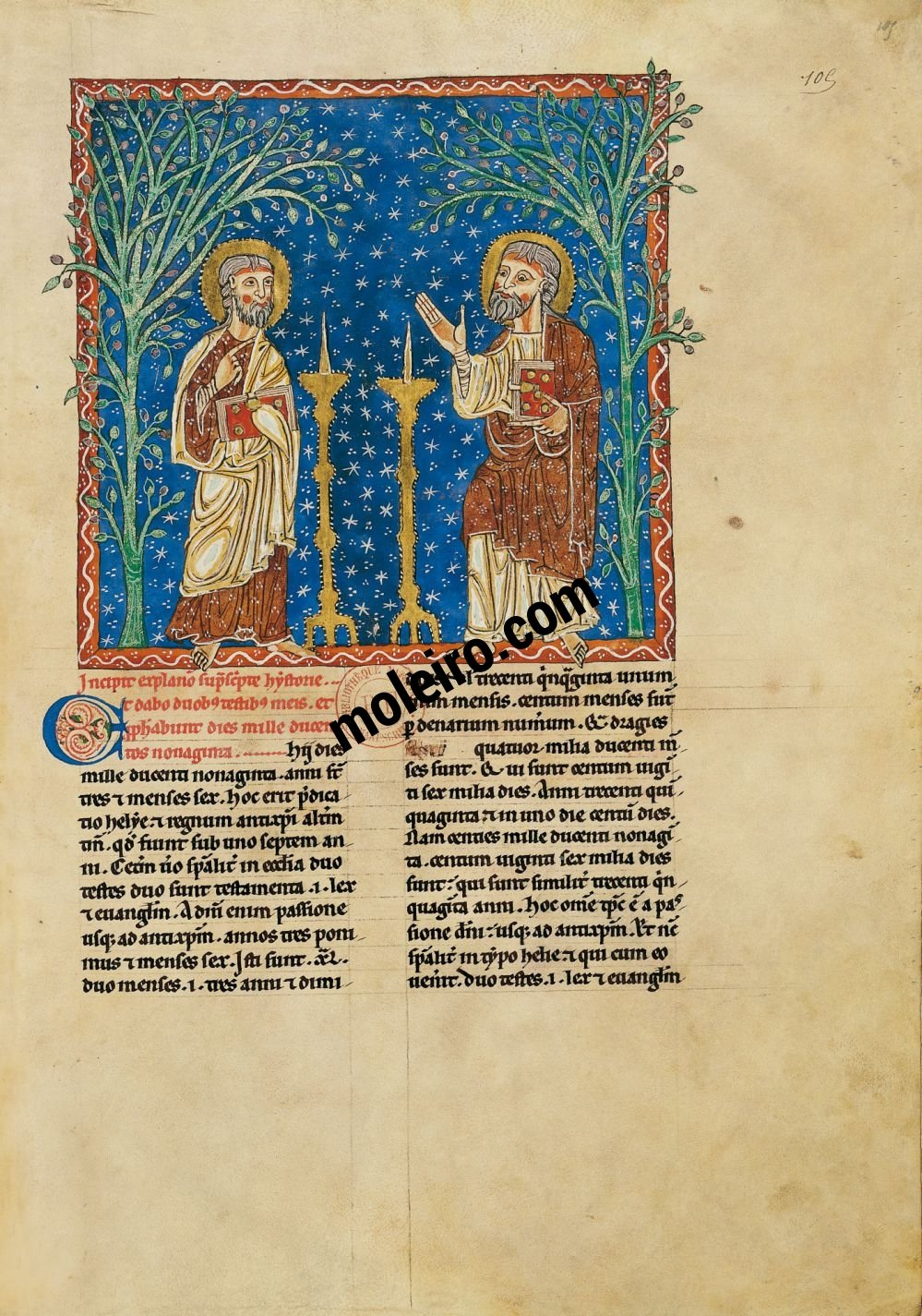 Arroyo Beatus f. 105r, The two witnesses