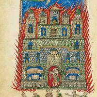 f. 147v, The Fire of Babylon