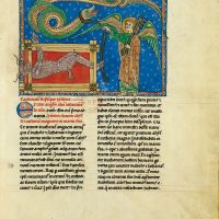 f. 155r, The angel with the key of the abyss and the enchained devil