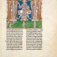 f. 3A, God gives the book to the angel, who then gives it to John