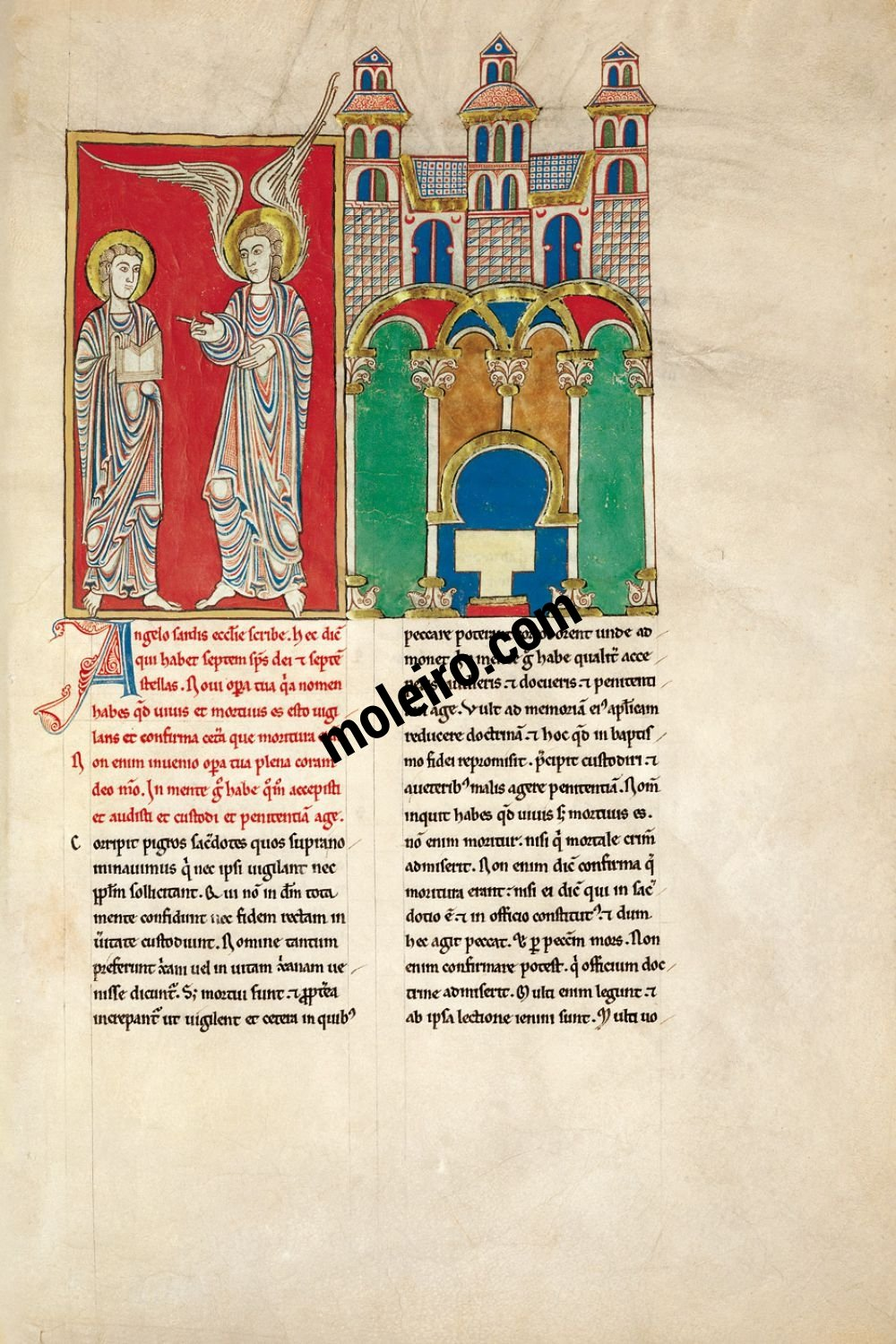 Cardeña Beatus f. 4A, The message to the Church of Sardis