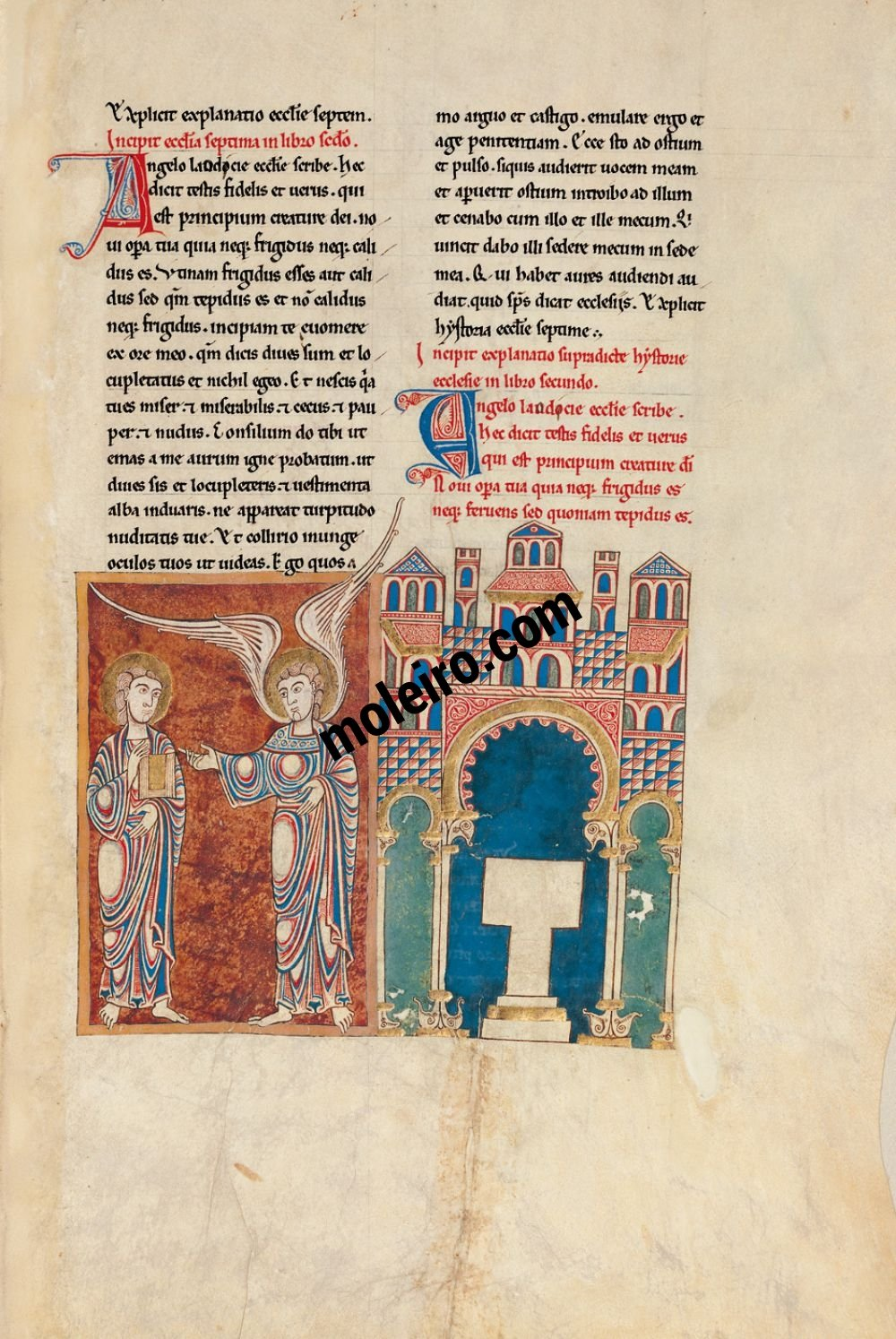 Cardeña Beatus f. 63r, The message to the Church of Laodicea
