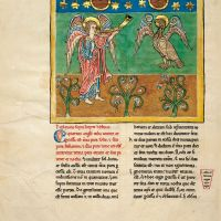 f. 9B, The angel with the fourth trumpet: the eclipse