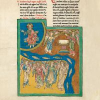 f. 11B, The angel with the sixth trumpet: the angels of the river Euphrates