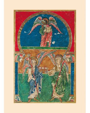 Print: the Angels with St. John's gospel, from the Beatus of Liébana 1 identical illumination