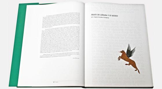 Beato de Fernando I y Sancha Detalle interior del libro de arte Beato de Fernando I y Sancha