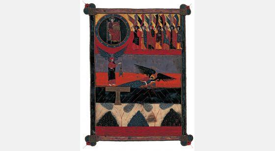 Beato de Fernando I y Sancha Dios y los siete ángeles con sus trompetas