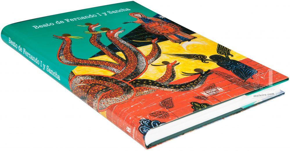 Beato de Fernando I y Sancha Fotografía en perspectiva de la portada y lomo del libro de arte Beato de Fernando I y Sancha