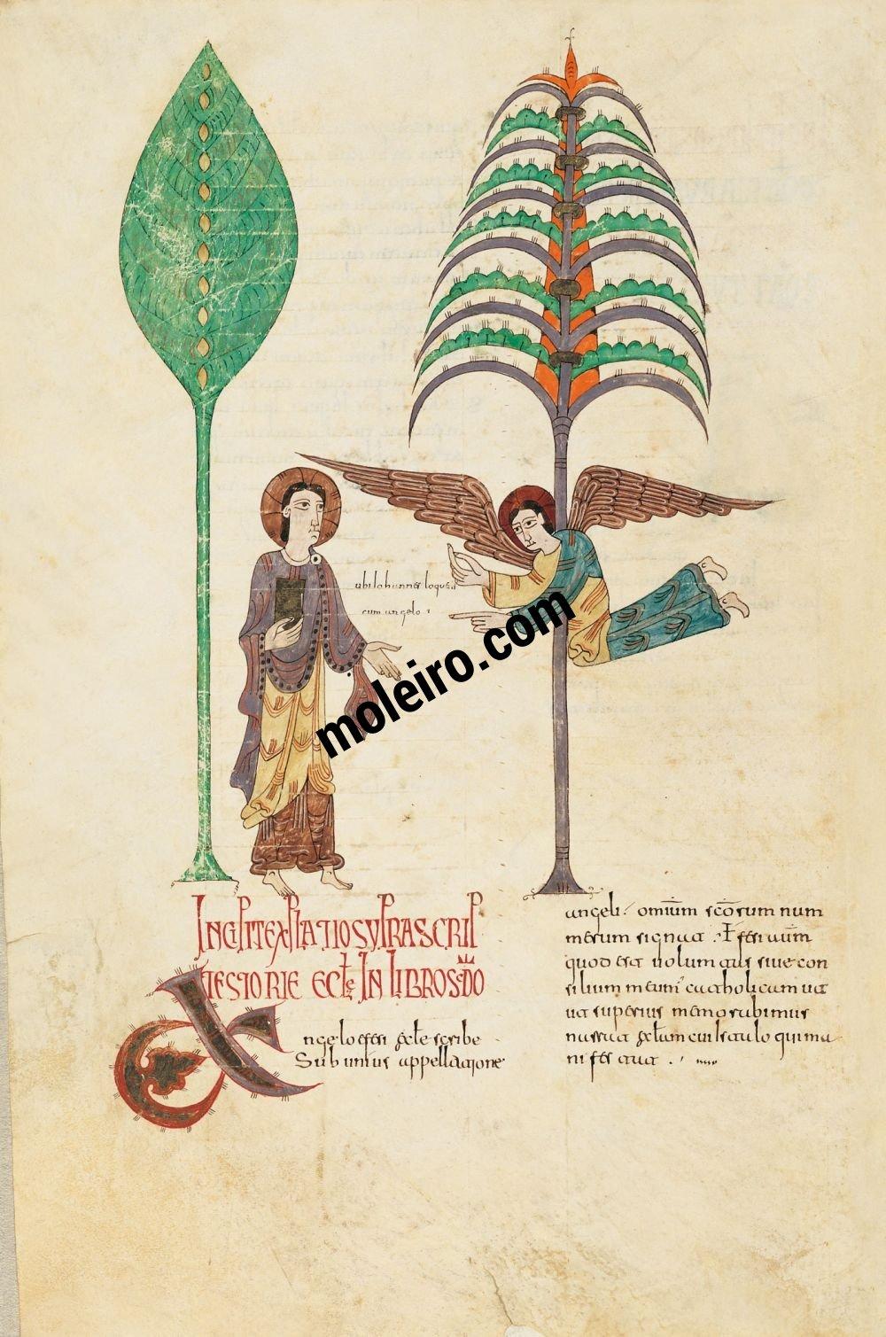 Girona Beatus f. 70v, Message to the Church of Ephesus