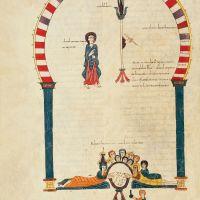 f. 253v, El banquete de Belshazzar