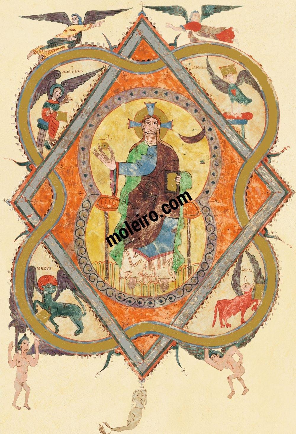 Beato de Liébana, códice del Monasterio de San Salvador de Tábara, Zamora f. 2r, Maiestas Domini