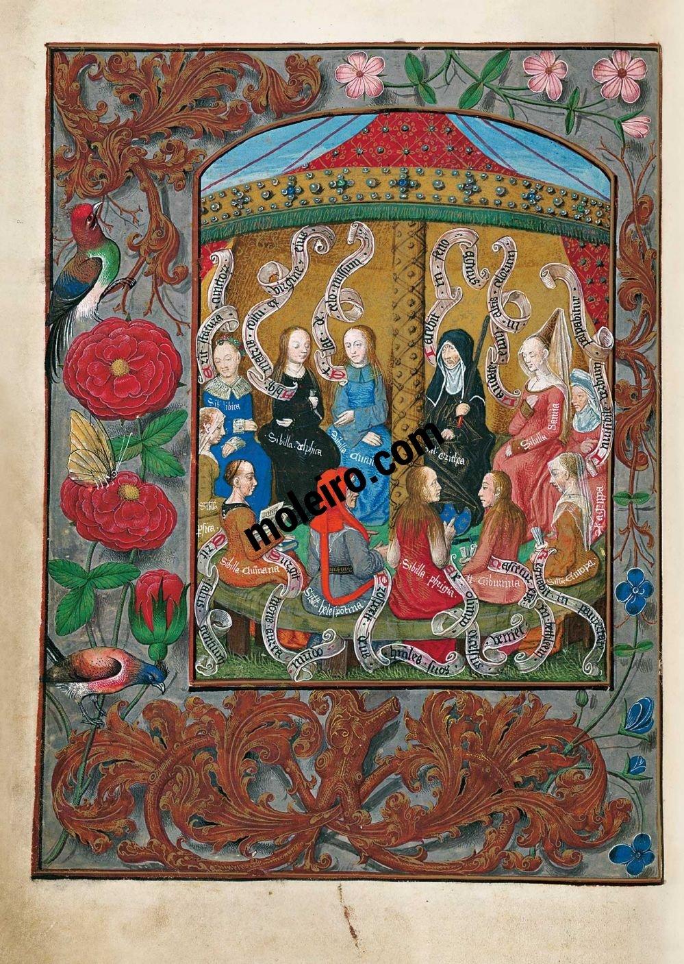 The Isabella Breviary f. 8v, The Twelve Sybils