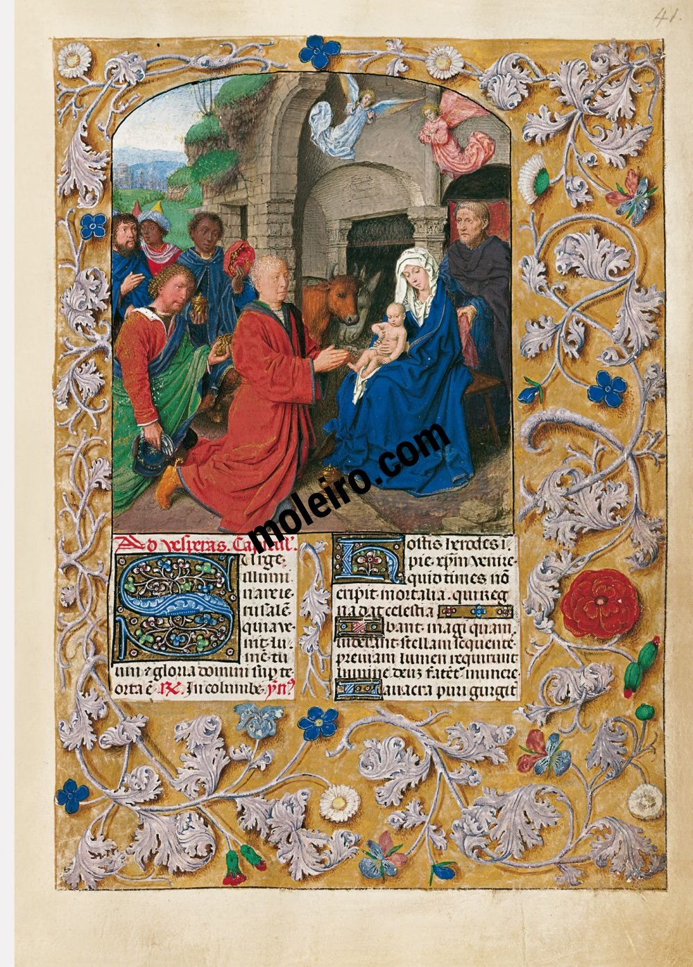 The Isabella Breviary f. 41r, Adoration of the Magi