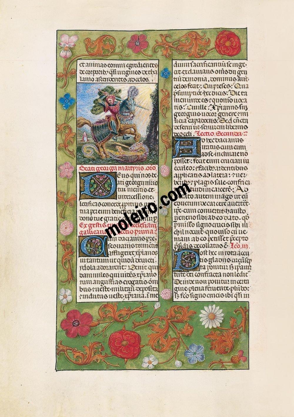 Le Bréviaire d'Isabelle la Catholique f. 363v, Georges (23 avril - xixe siècle)