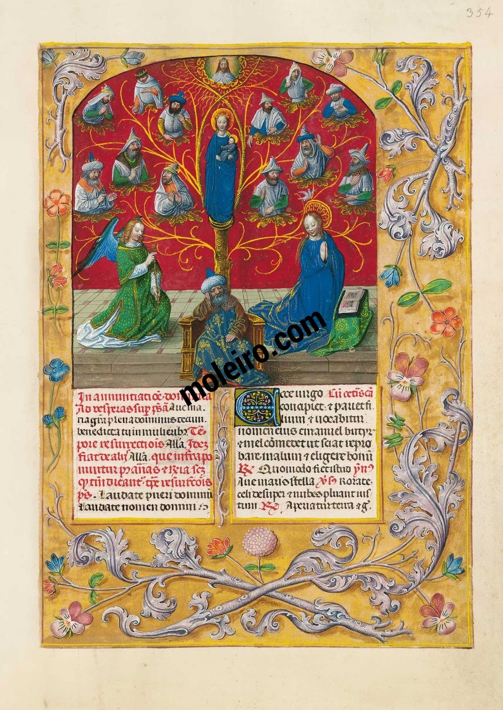 The Isabella Breviary f. 354r, The Tree of Jesse