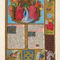 f. 437r, Apología de la coronación de la reina Isabel - La coronación de la Virgen