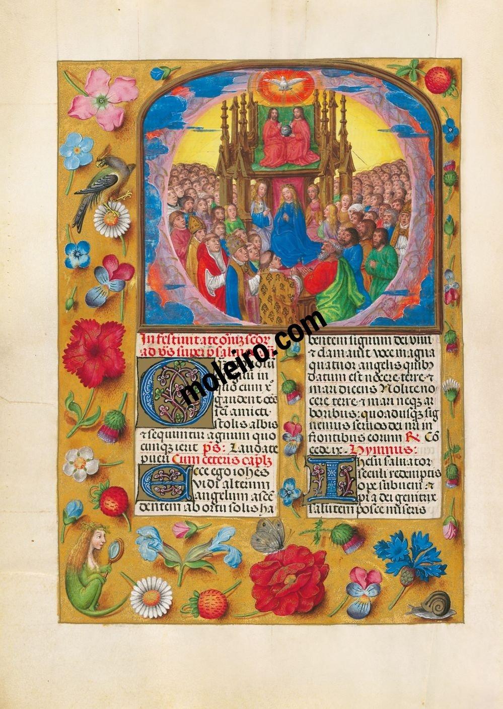 Brevier von Isabella der Katholischen f. 477v, Das Hochfest Allerheiligen