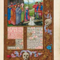 f. 481r, La resurrección de Lázaro