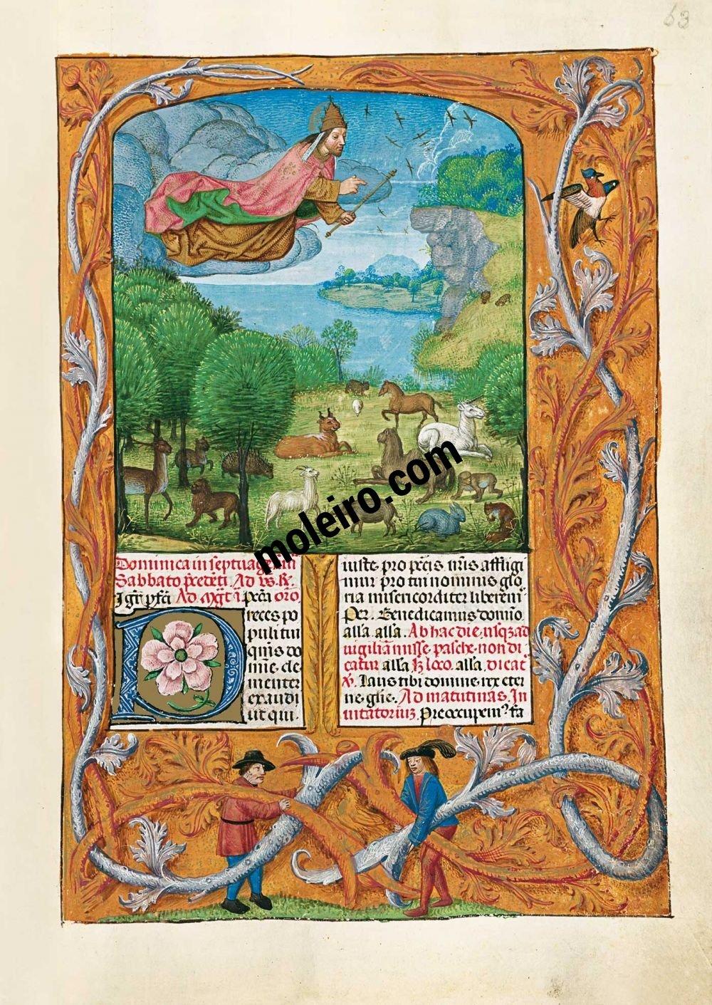 Le Bréviaire d'Isabelle la Catholique f. 63r, La Création