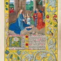f. 28r, The Nativity Scene
