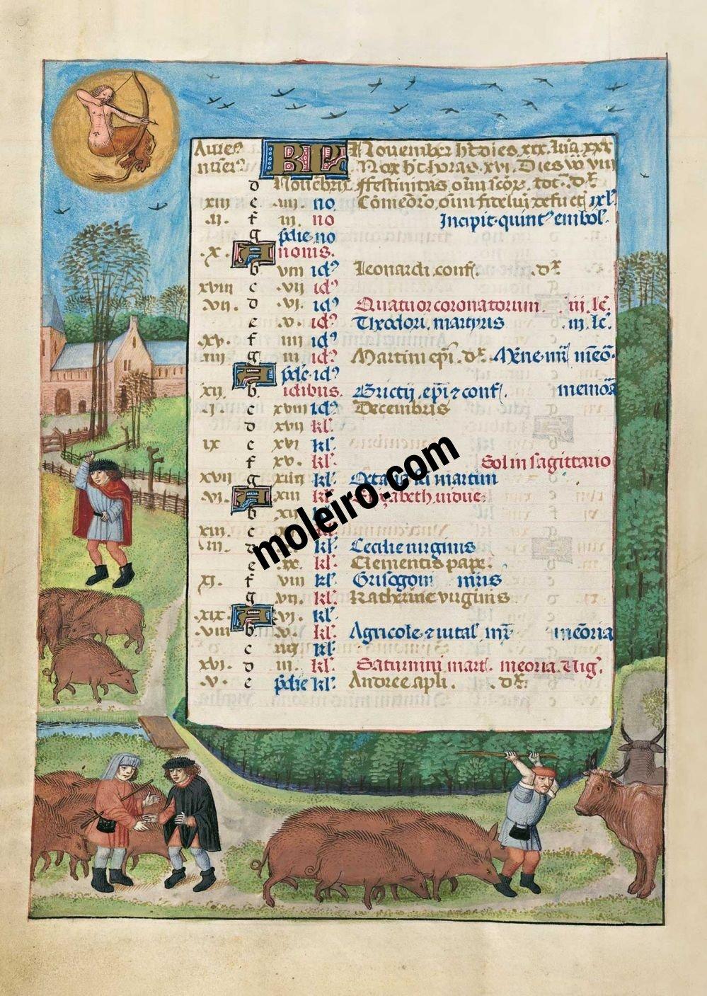 Brevier von Isabella der Katholischen f. 6v, November