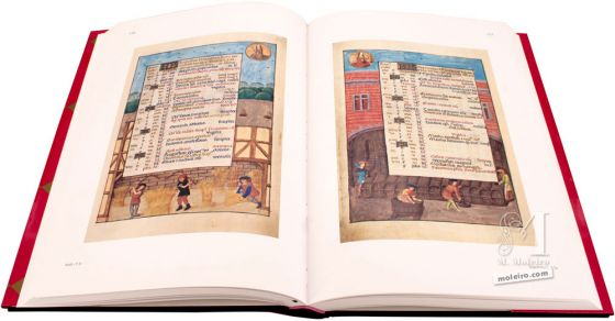The Isabella Breviary Calendar: August and September