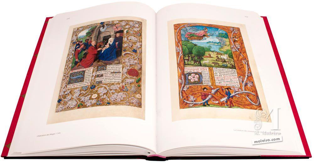Breviario de Isabel la Católica Adoración de los reyes magos y Creación de las aves y las bestias
