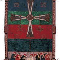 f. 6v, Das verehrte Lamm und Kreuz