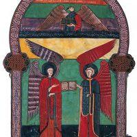 f. 10, Die Engel mit dem Johannes-Evangelium