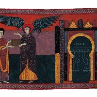 f. 96r, El ángel de Sardes y Juan