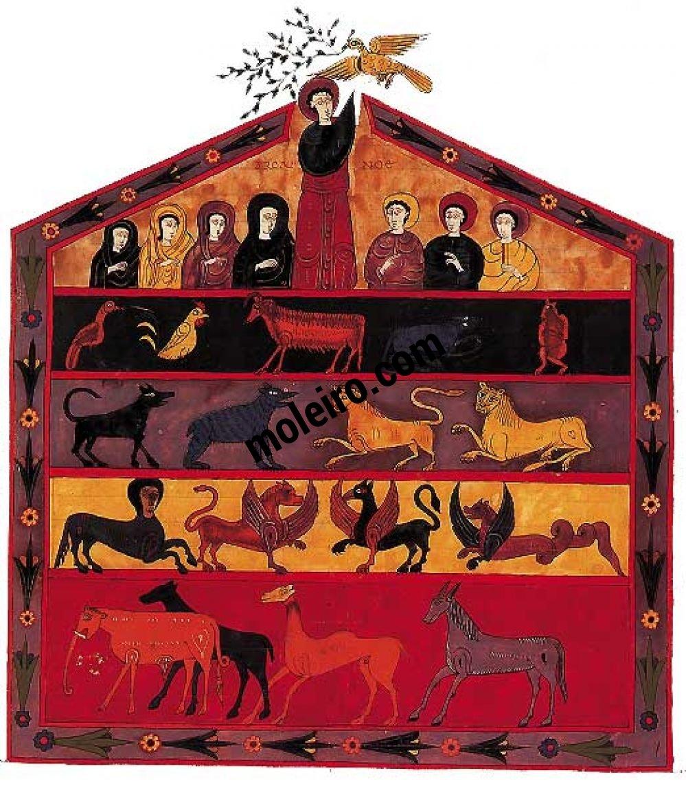 Beato de Liébana, códice de Fernando I y doña Sancha f. 109, El Arca de Noé