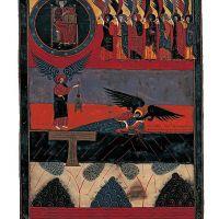 f. 162v, Die Stille des siebten Siegels (Offb VIII, 1-5)