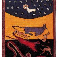 f. 230v, El Cordero vence a la bestia, el dragón y el falso profeta (Apoc. XVII, 14-18)