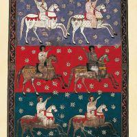 f. 240, Das weiße Heer Gottes, der treue und wahrhaftige Reiter (Offb XIX, 11-16)
