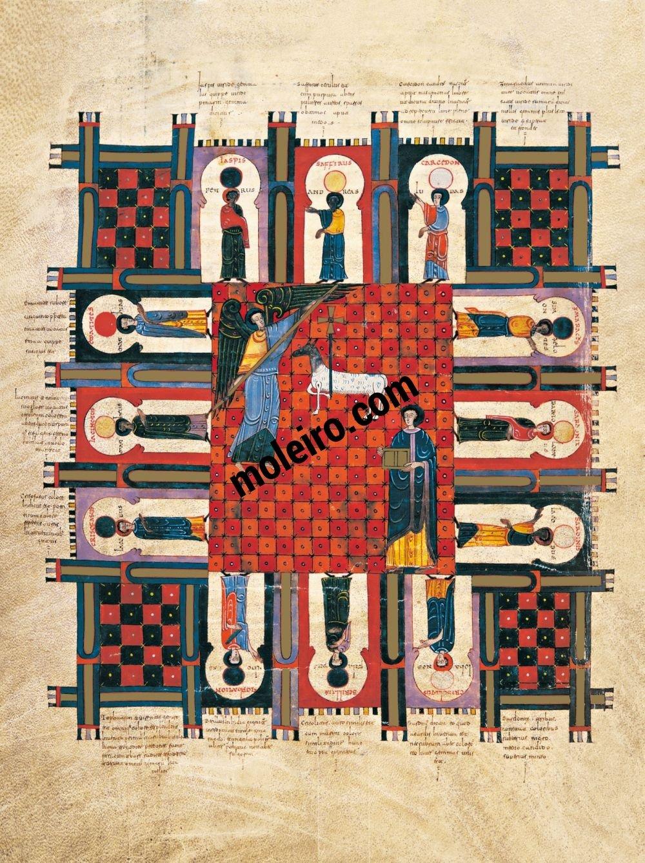Beato de Liébana, códice de Fernando I y doña Sancha f. 253v, La Jerusalén que desciende del cielo