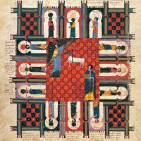 f. 253v, Das vom Himmel herabsteigende Jerusalem