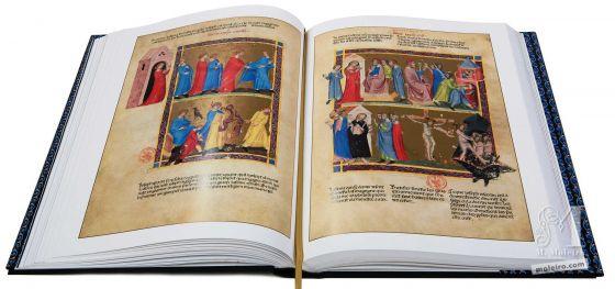 Bíblia moralizada de Nápoles A mulher de Putifar tenta seduzir José (Génesis 39, 7-12)