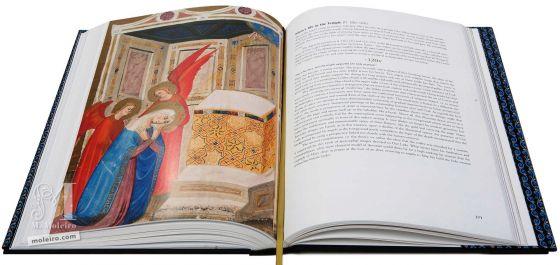 Bible moralisée aus Neapel Das Leben Mariens im Tempel (f. 120v)
