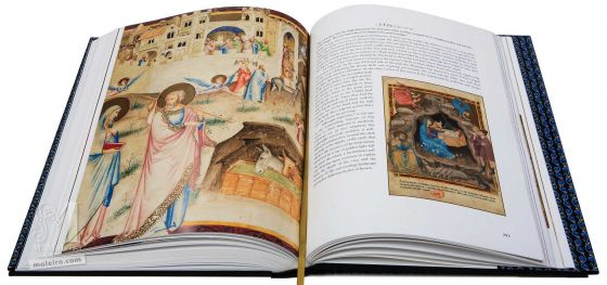 Bible moralisée aus Neapel Die Geburt Jesu (Lukas 2,8-15)