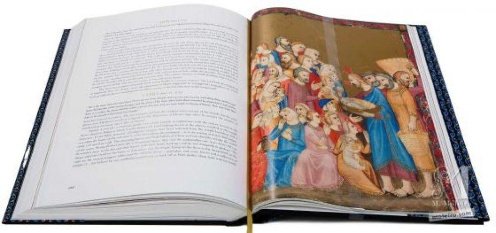 Bible moralisée aus Neapel Episode der wundersamen Brotvermehrung (Johannes 6,1-15)