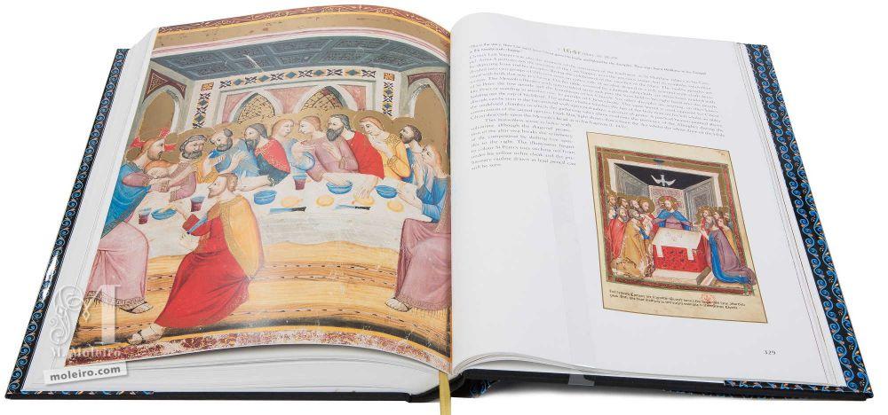 Bíblia moralizada de Nápoles A última ceia de Cristo (Mateus, 26, 26-29)