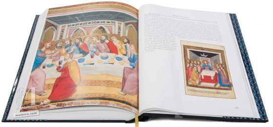 Bible moralisée aus Neapel Christi letztes Abendmahl (Matthäus 26,26-29)