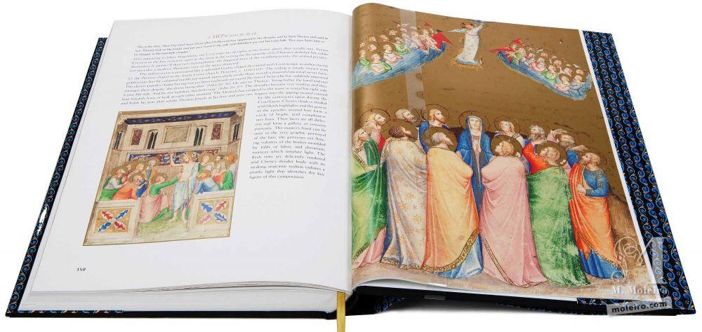 Bible moralisée aus Neapel Jesu Himmelfahrt