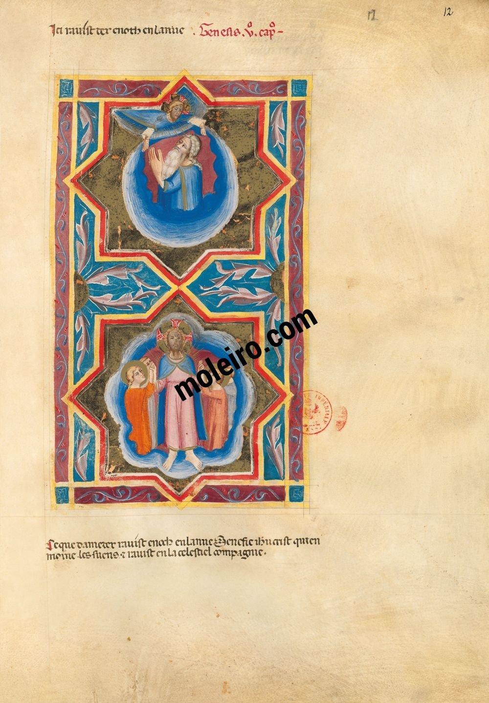 Bible moralisée de Naples f. 12r (Gn 5, 24)
