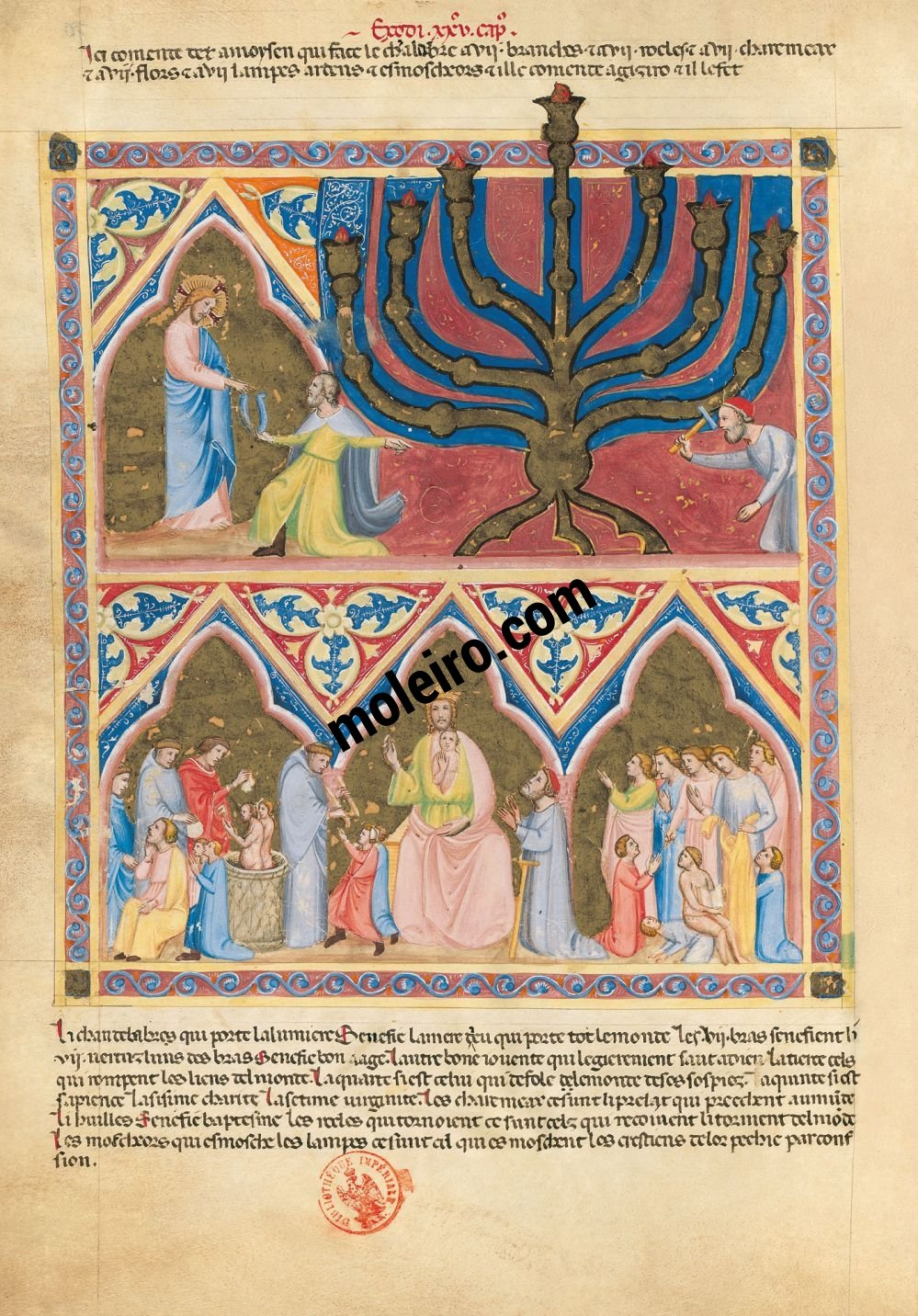 Bible moralisée aus Neapel f. 70v