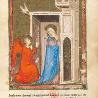 f. 129r: Anunciación(Lucas 1, 31-38)