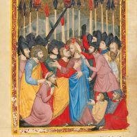 f. 168r: Judas' Kiss (Matt. 26, 47-52)